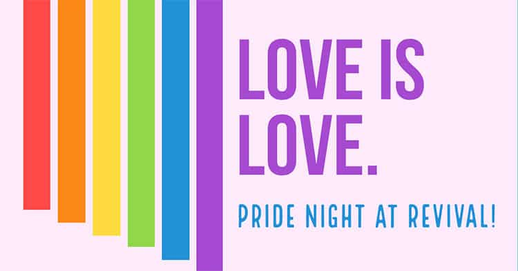 Calgary Pride Events List 2019 revival pride night