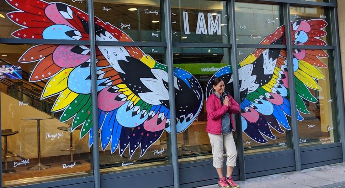 Calgary TELUS Convention Centre Pride mural