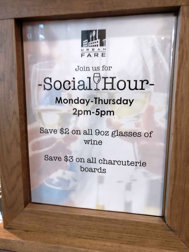 happy hours in Calgary Urban Fare