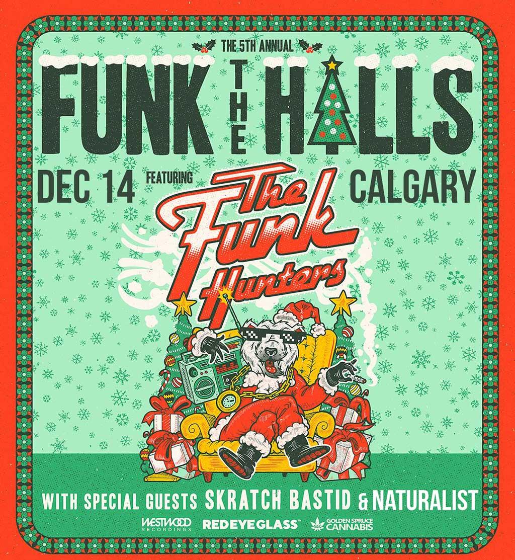 Funk the halls Calgary Dec 14 Poster