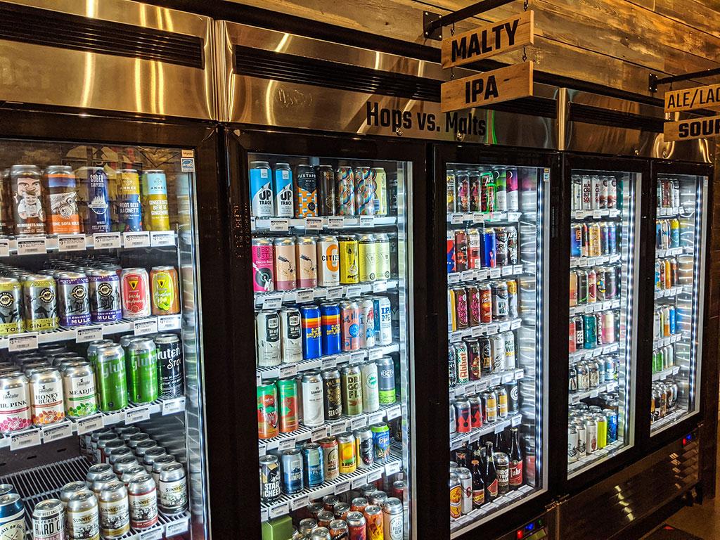 Alberta Beer Exchange Beer Fridge