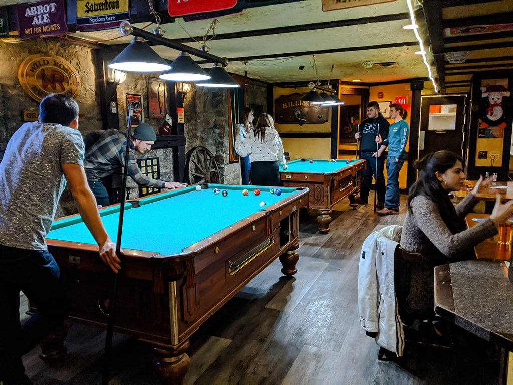 Bear & Kilt pool tables