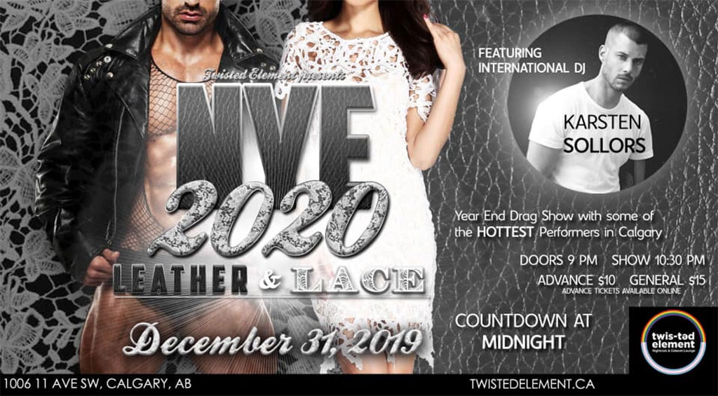 Things To do in Calgary for New Years Eve 2020 Twisted Element Leather and Lace