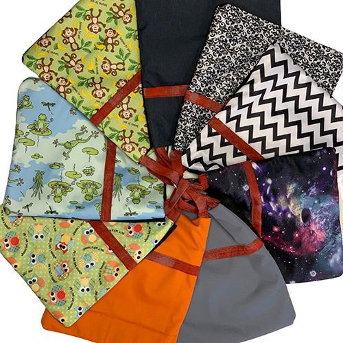Hippo Hug Clean Dirty Face Mask Bags, for storing your cotton face masks in a safe and sanitary container.