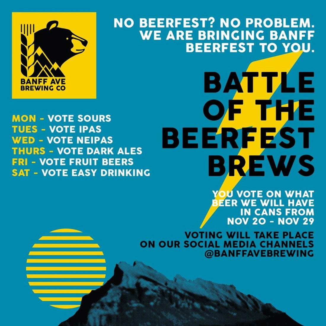 Banff Craft Beer Week Banff Ave Brewing Company battle of the beerfest brews