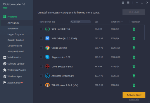 IObit Uninstaller Pro 10.5.0.5 Crack With License Key 2021
