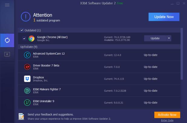 IObit Software Updater Pro 4.0.0.99 Crack + Serial Key 2021 (Full Free)