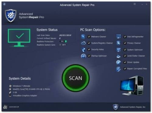 Advanced System Repair Pro Crack Latest Full Version Free Download 2020