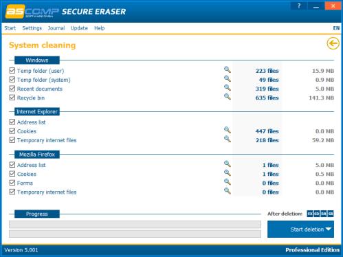 Ascomp Secure Eraser Hard Disk