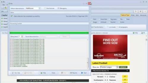 Visual Web Ripper Free Download 2020