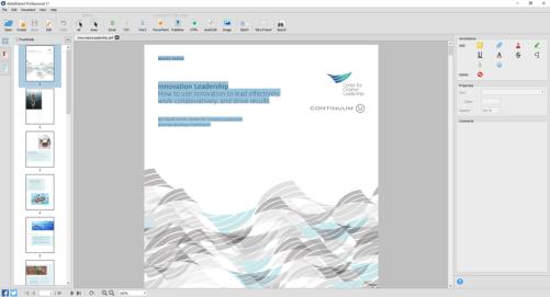 Infix PDF Editor Interface