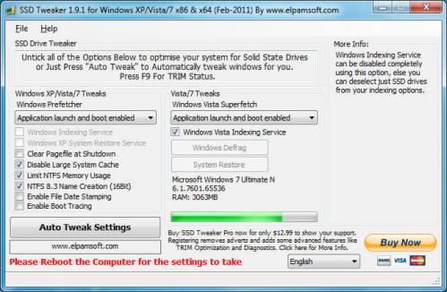 Tweak SSD Using Drive