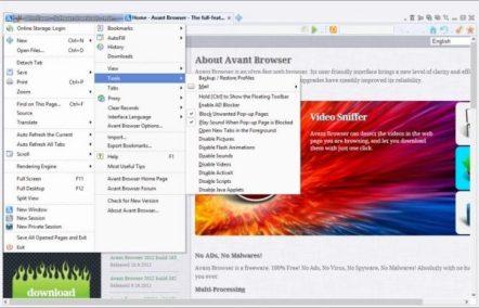 Avant Browser Ultimate 2018 Screenshot 1