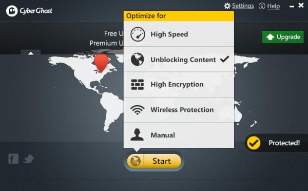 CyberGhost VPN Premium 6.5 Screenshot 2