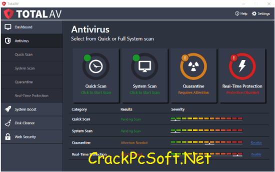 Total AV Antivirus 2018 Crack