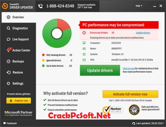 TweakBit Driver Updater Crack