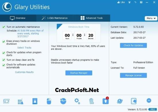 Glary Utilities Pro 5 Full Crack