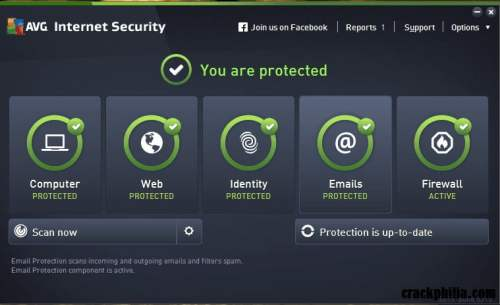AVG Internet Security 21.3.61 Crack With License Key Free Download