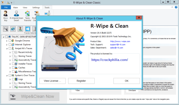 R-Wipe & Clean 20.0 Build 2315 Crack With License Key Download 2021