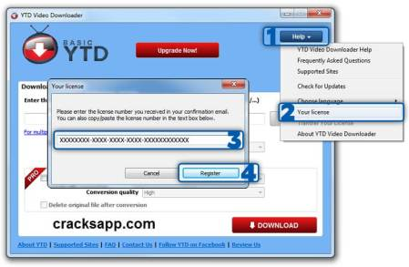 YTD YouTube Video Downloader Pro License Number Free Download