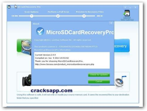 MicroSD Card Recovery Pro v2.9.9 License Key Free Download