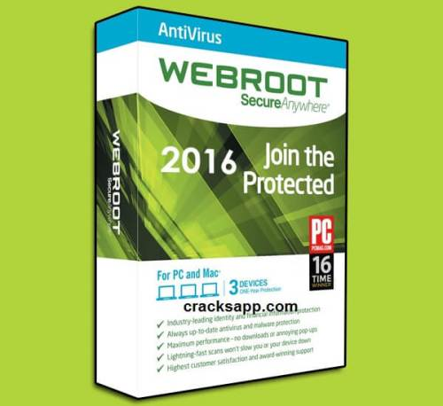 Webroot Secureanywhere Antivirus 2016 Full Crack