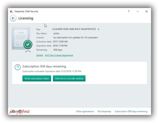 Kaspersky Total Security 2018 License Key
