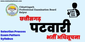 CG Vyapam Patwari Recruitment 2021