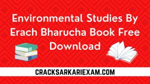 Environmental Studies By Erach Bharucha Book Free Download