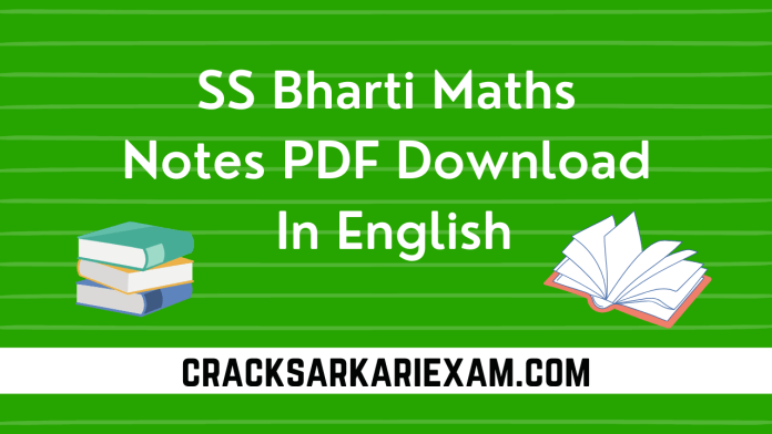SS Bharti Maths Notes PDF Download In English