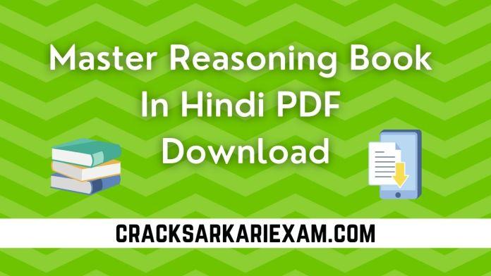 Master Reasoning Book in Hindi PDF Download