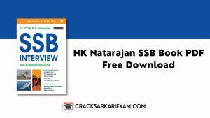 NK Natarajan SSB Book PDF Free Download