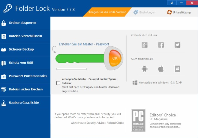 Folder Lock 7.7.9 Crack + Serial Key Windows 7, 8, 8.1