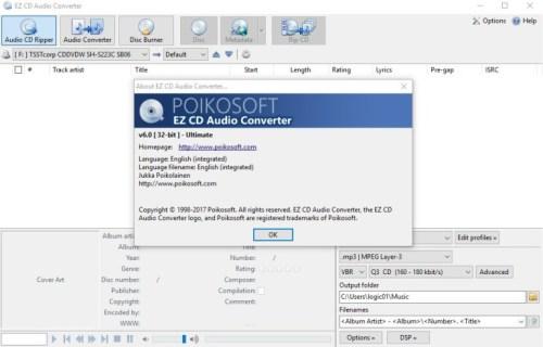 EZ CD Audio Converter 7.0.7 Crack