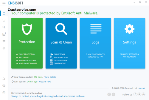 Emsisoft Anti-malware 2020.1.0.9926 Crack + License Key (New)