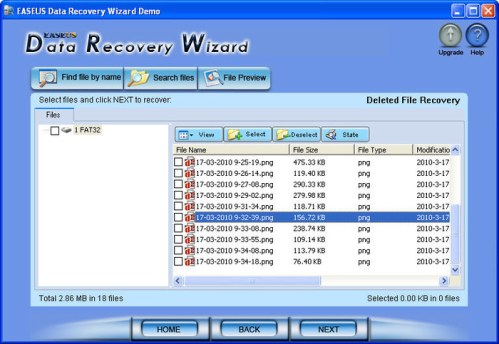 file recovery wizard