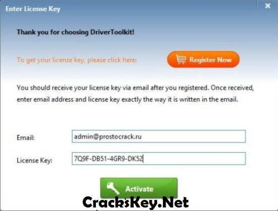 driver toolkit registration key and email