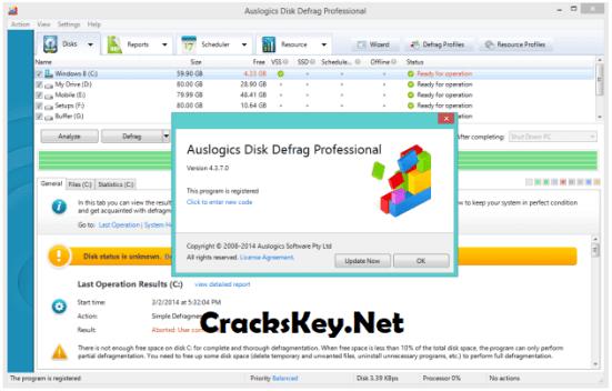 Auslogics Disk Defrag Pro Key