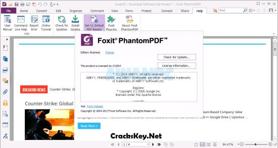 Foxit PhantomPDF Business Activation Key