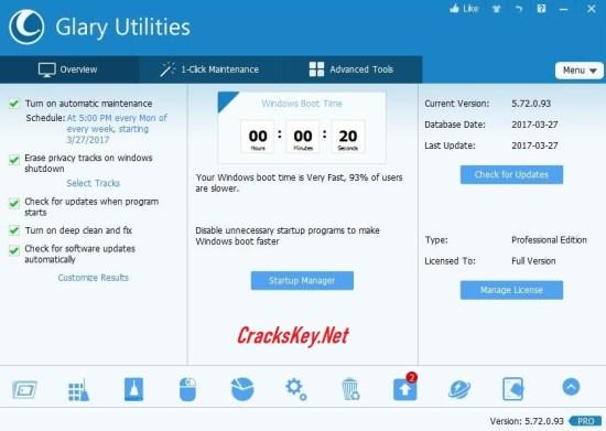 Glary Utilities Pro License Key