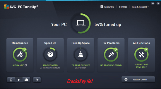 AVG PC TuneUp Utilities 2019 License Key