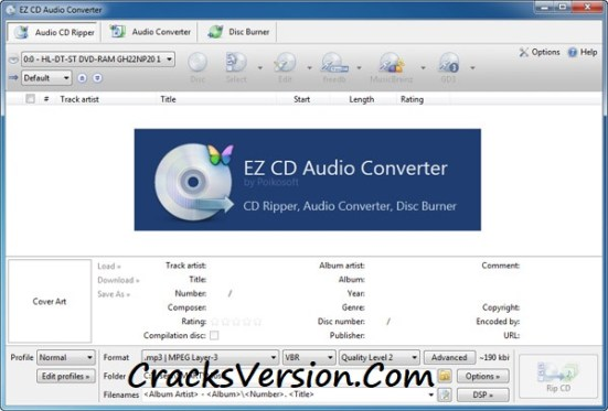 EZ CD Audio Converter Crack + License Key Download