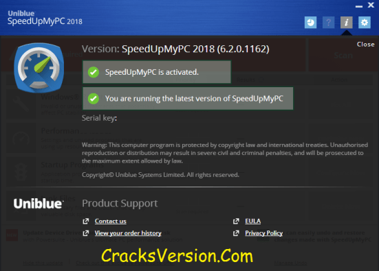 Uniblue SpeedUpMyPC Serial Key