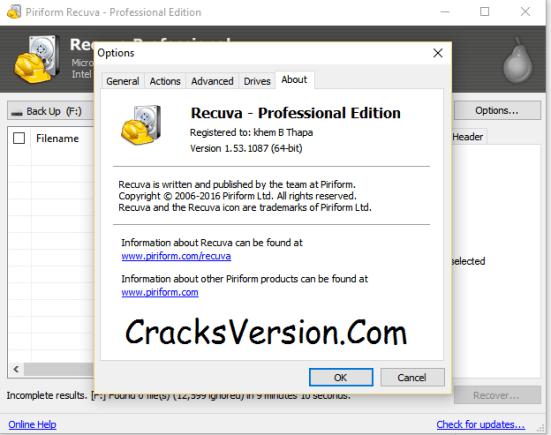 Recuva PRO Serial Key