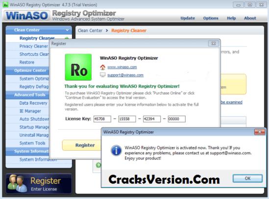 WinASO Registry Optimizer License Key