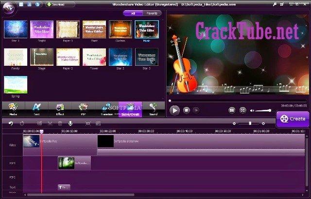 Wondershare Video Editor Crack Free Download {Latest}