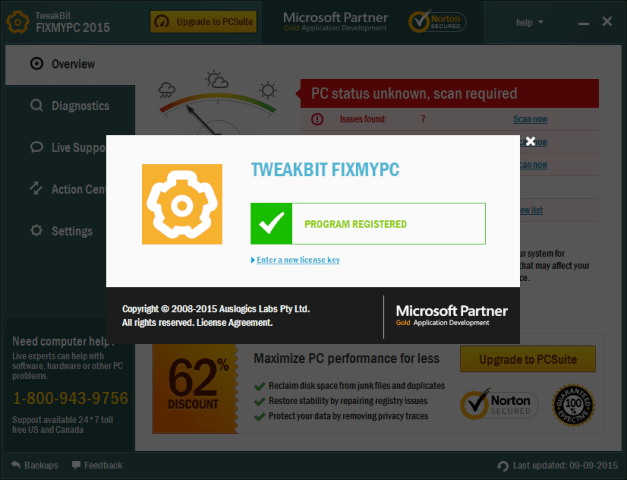 TweakBit FixMyPC Crack & License Key Free