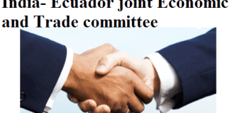 India- Ecuador Joint Economic and Trade Committee