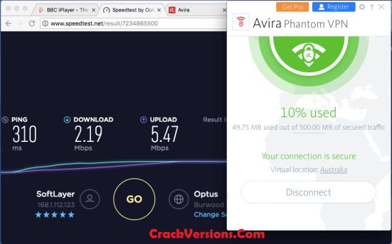 Avira Phantom VPN 2018 Serial Key