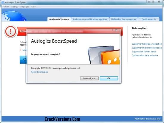 Auslogics BoostSpeed 10 Serial Key
